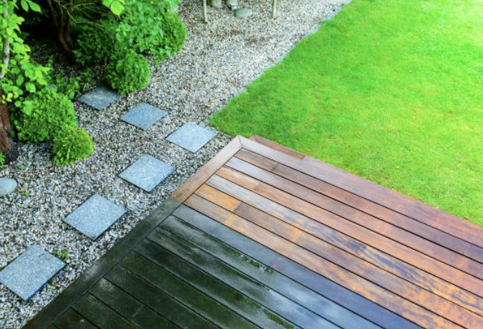 Clean Wood Decks via Pressure Washing
